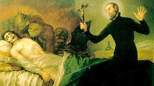 Darstellung des Exorizimus nach Francisco de Goya